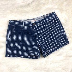 Merona polka dot navy blue white shorts classy 4